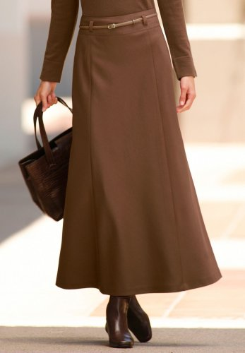 Buy Belted Wool Skirt