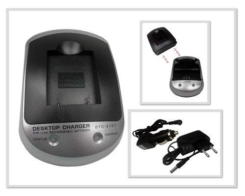Ladegerät SET DTC-5101 für Nikon Coolpix S210 (Li-40B)