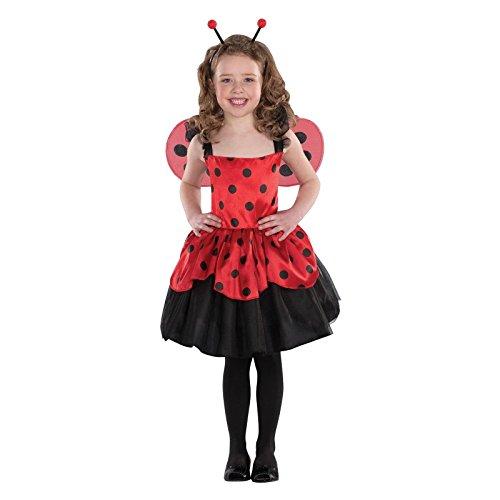 [Girls' Halloween Ladybug Costume Size Small 2-4] (Girls Bug Costumes)