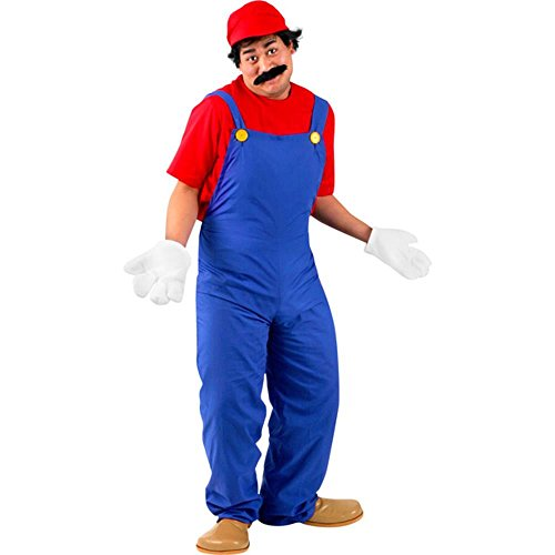 Adult's Super Mario Halloween Costume (Size: X-Large 46-48)