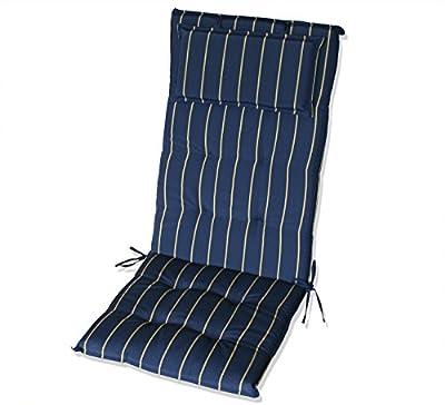 KMH®, Schöne Hochlehnerauflage (Marineblau) (#105024) von KMH mbh - Gartenmöbel von Du und Dein Garten