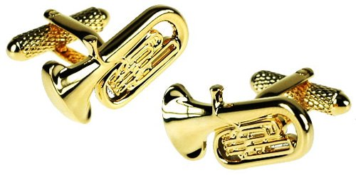 GOLD TUBA MUSICIAN NOVELTY CUFFLINKS IN DELUXE GIFT BOX