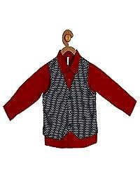 Campana Red Shirt With Waistcoat