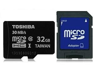 東芝 microSDHC 32GB Toshiba UHS-I 超高速30MB/s 並行輸入品