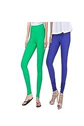 kannan Women's Cotton Blended Churidar Leggings (pack of 2)