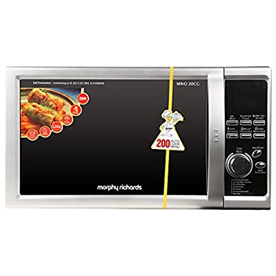 Morphy Richards 20CG 20-Litre 1200-Watt Microwave Oven (Silver)