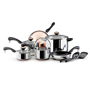 Paula Deen Stainless Steel 12 Piece Cookware Set