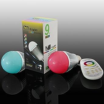 2x RGB LED E27 Farbwechsel Leuchtmittel dimmbar FERNBEDIENUNG 4W Lampe 3000K