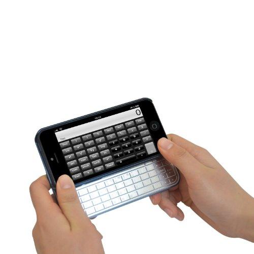 Ultraslim アルミニウム製キーボードiPhone 5用、iPhone5ケース マグネット式