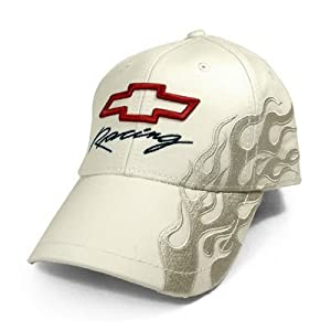 Chevrolet Light Grey Racing Ghost Flame Baseball Cap