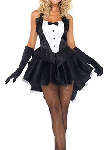 Asoidchi 3-Piece Bunny Girl And Tails Bunny Tuxedo Costume