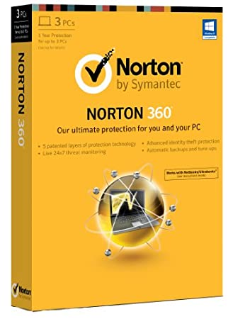 Norton 360 2013 - 1 User, 3 PCs 1 Year Subscription (PC)