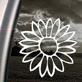 Flower White Sticker Decal Notebook Car Laptop Art Bumper White Sticker Decal