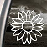 Flower White Sticker Decal Notebook C...