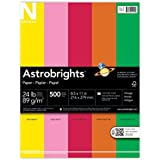 Neenah Astrobrights Premium Color Paper Assortment, 24 lb, 8.5 x 11 Inches, 500 Sheets, Vintage