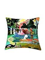 ARTE E TESSUTI by MANIFATTURE COTONIERE Cojín Con Relleno Extraíble Gauguin-Matamoe Azul/Multicolor