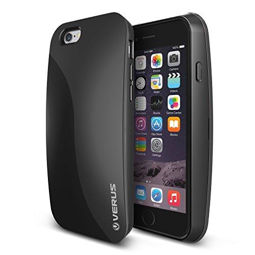 iPhone6 ケース VERUS PEBBLE カードケース 搭載 プラスチック + TPU ハードケース for Apple iPhone 6 4.7 インチ 2014 ブラック 【国内正規品】 保証書 兼 国内正規品証明書 付