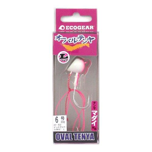 エコギア オーバルテンヤ Lフック 6号 T02(ピンクグロウ)の商品画像