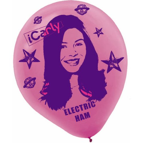 iCarly Printed Latex Balloons 6 Pack - 1