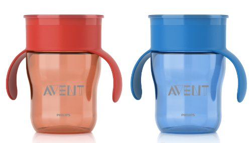 Philips Avent Bpa Free Natural Drinking Cup, Red And Blue, 9 Ounce, 2-Count