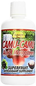 Dynamic Health Camu Camu, Acai & Mangosteen Juice Blend, 32-Ounce Bottle