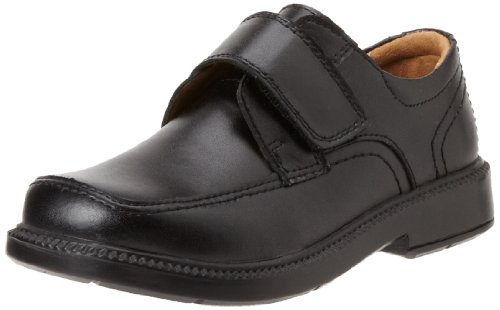Florsheim Kids Berwyn JR Uniform Monk Strap Oxford (Little Kid/Big Kid), Black, 12 M US Little Kid