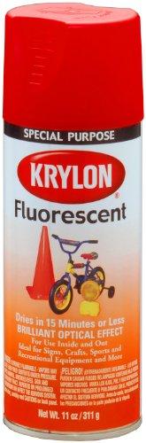 Krylon 3101 Fluorescent Spray Paint, 11-Ounce, Red/Orange