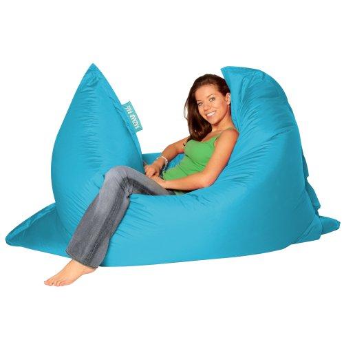 BAZAAR BAG ® - Giant Beanbag AQUA - Indoor & Outdoor Bean Bag - MASSIVE 180x140cm - GREAT for Garden