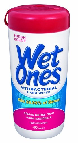 Wet Ones Antibacterial Hands & Face Wipes Fresh Scent 40 Count Canister (Pack Of 4) front-818708