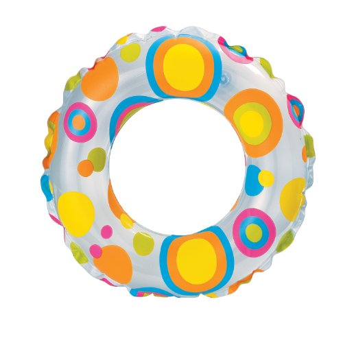 Intex Intex Lively Print 24 Inch Swim Ring, Multi Color (Multicolor)