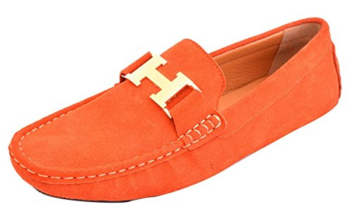 fordbox-mens-casual-gold-buckle-leather-slip-on-loafer-driving-car-shoes-moccasin-shoes-orange9-dm-u