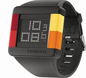 Converse Men's VR014001 High Score Black Digital Dial and Black Silicone Strap Watch