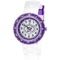 [フリック フラック]FLIK FLAK キッズ腕時計 Full Size(フルサイズ) PURPLE SUMMER BREEZE(パープル・サマー・ブリーズ) ZFCSP011 ガールズ 【正規輸入品】