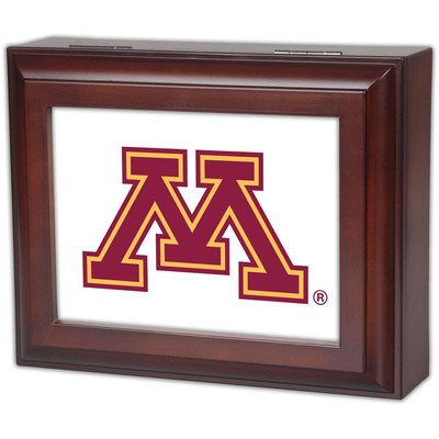Collegiate Digital Music Jewelry Box Finish: Wood Grain, Ncaa Team: University Of Minnesota