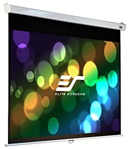 "Elite Screens 120 Inch 16:9 Manual Pro Slow Retract Projector Screen (58.8""Hx104.6""W)"