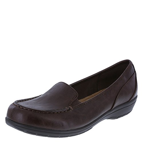 Comfort Plus by Predictions Women's Brown Women's Colby Loafer 9 Wide