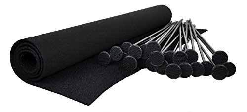 New Gun Storage Solutions Pack of 20 Rifle Rods Starter Kit with Loop Fabric (30 x 19-Inch)