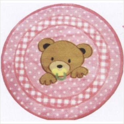 Supreme Teddy Center Pink Bear Rug Size: Round 3'3''