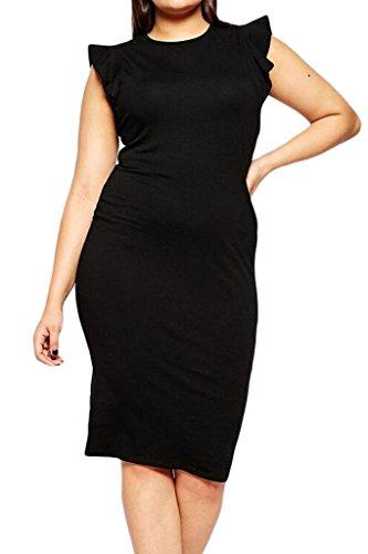 Dearlovers Womens Sleeveless Casual Career Dress XX-Large Black