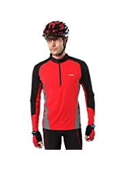 Guang Men's Long Sleeve Spring/Autumn Cycling Jerseys Breathable/Wicking Red M/L/XL/XXL High Elasticity(Delivery...