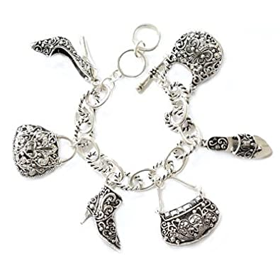 Handbags and Shoe Theme Charm Bracelet