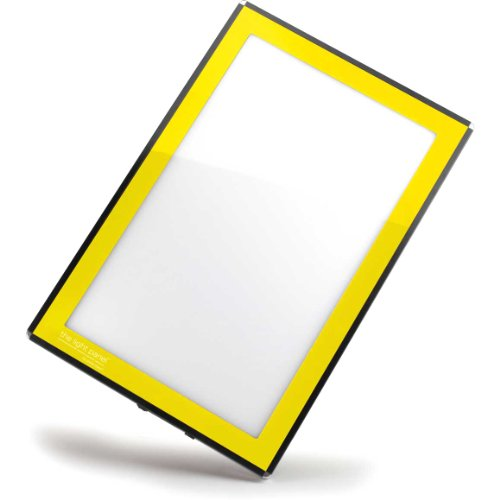 Porta-Trace LED Light Panel, Yellow Frame, 11-by-18-Inch