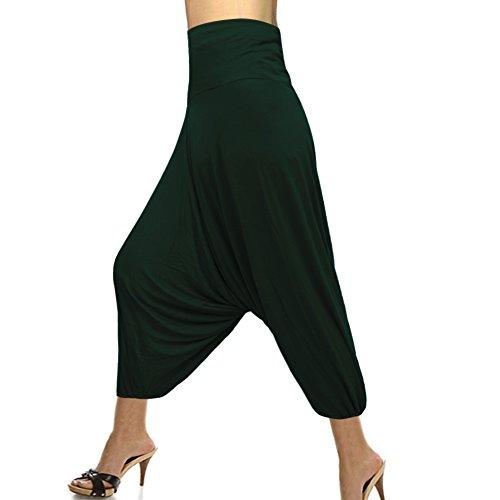 fashionable-single-color-elastic-wiast-hosiery-cotton-harem-pant