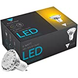 Triangle Bulbs (6-PACK) LED 6-Watt Dimmable GU10 MR16 60° High Power 50W Equivalent, Warm White Light Bulbs - 6 PACK