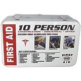 SAS Safety 6010-01 10-Person First-Aid Kit, Metal Box