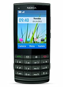 Nokia X3-02 Factory Unlocked Touch and Type GSM Phone with 5 MP Camera - Dark Metal (International Version)