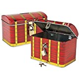 Pirate Treasure Chest, Metal with Lock