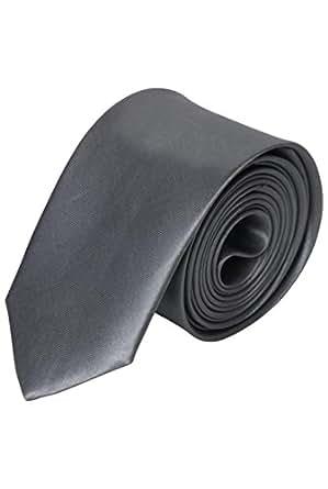 Cravate fine grise claire - Gris Clair - Unique