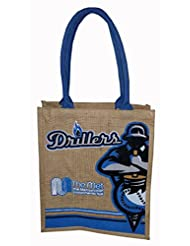 Fancy Looking Jute Bag With Blue Handle