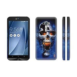 Heartly Skull Printed Designer Thin Hard Bumper Back Case Cover For Asus Zenfone Selfie ZD551KL 5.5 - Sky Blue